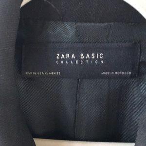 Zara Basic Black Waistcoat
